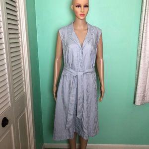 Peter Nygard Sleeveless Button Front Dress Size 18